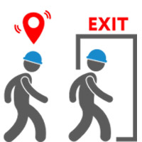Evacuation and detecting people in accident