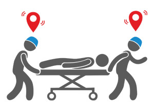 Control of the location of staff and patients