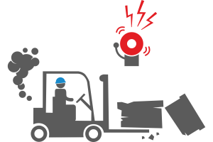 Vehicle collision or cargo falling detection